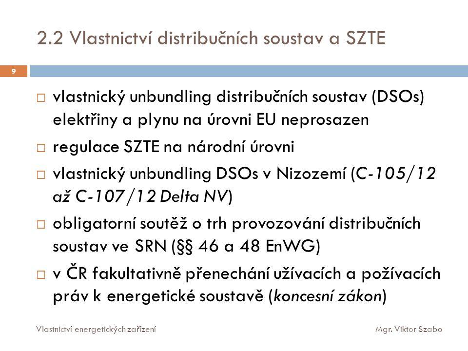 6.1 Energetické zařízení jako součást věci např. rozsudek NS 29 Cdo 2452/98 20