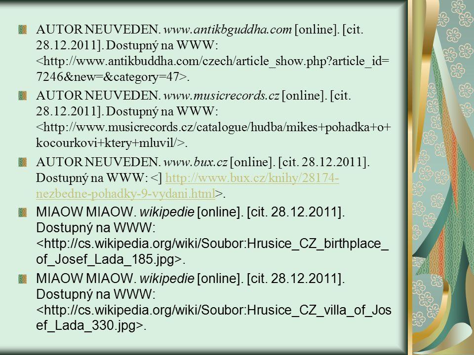 AUTOR NEUVEDEN. www.antikbguddha.com [online]. [cit.