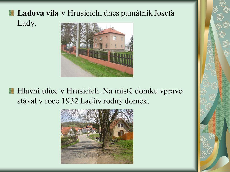 Ladova vila v Hrusicích, dnes památník Josefa Lady.