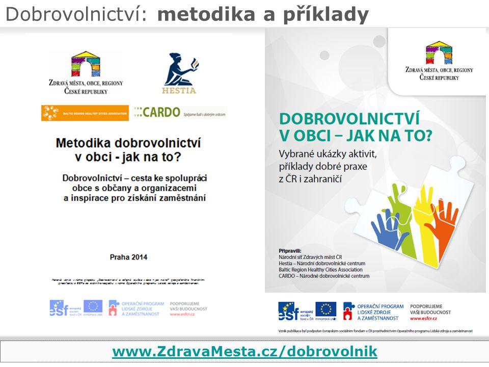 Dobrovolnictví: metodika a příklady www.ZdravaMesta.cz/dobrovolnik