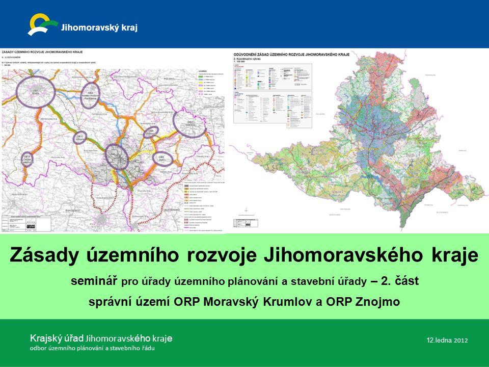 Krajský úřad Jihomoravsk ého kraj e odbor územního plánování a stavebního řádu Děkujeme za pozornost Ing.