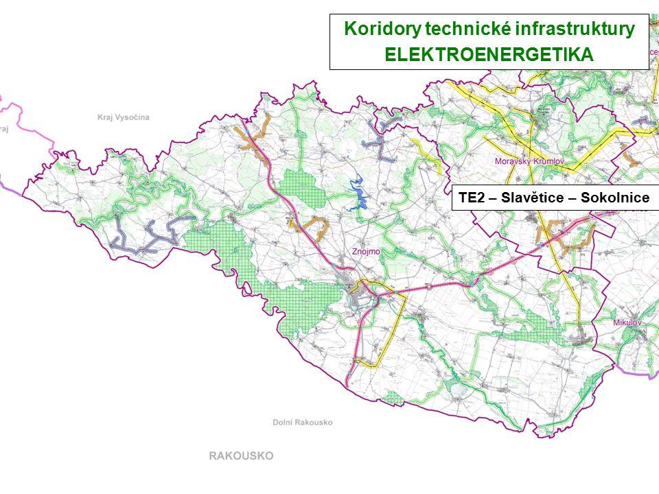 TE2 – Slavětice – Sokolnice Koridory technické infrastruktury ELEKTROENERGETIKA