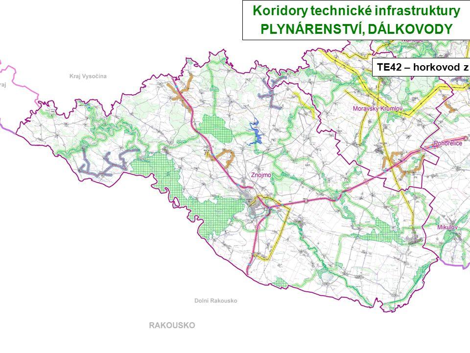Koridory technické infrastruktury PLYNÁRENSTVÍ, DÁLKOVODY TE42 – horkovod z JED