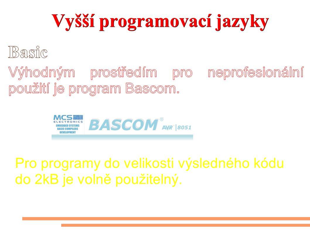 Vyšší programovací jazyky Pro programy do velikosti výsledného kódu do 2kB je volně použitelný.