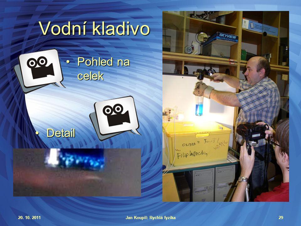 20. 10. 2011Jan Koupil: Rychlá fyzika29 Vodní kladivo Pohled na celekPohled na celek DetailDetail