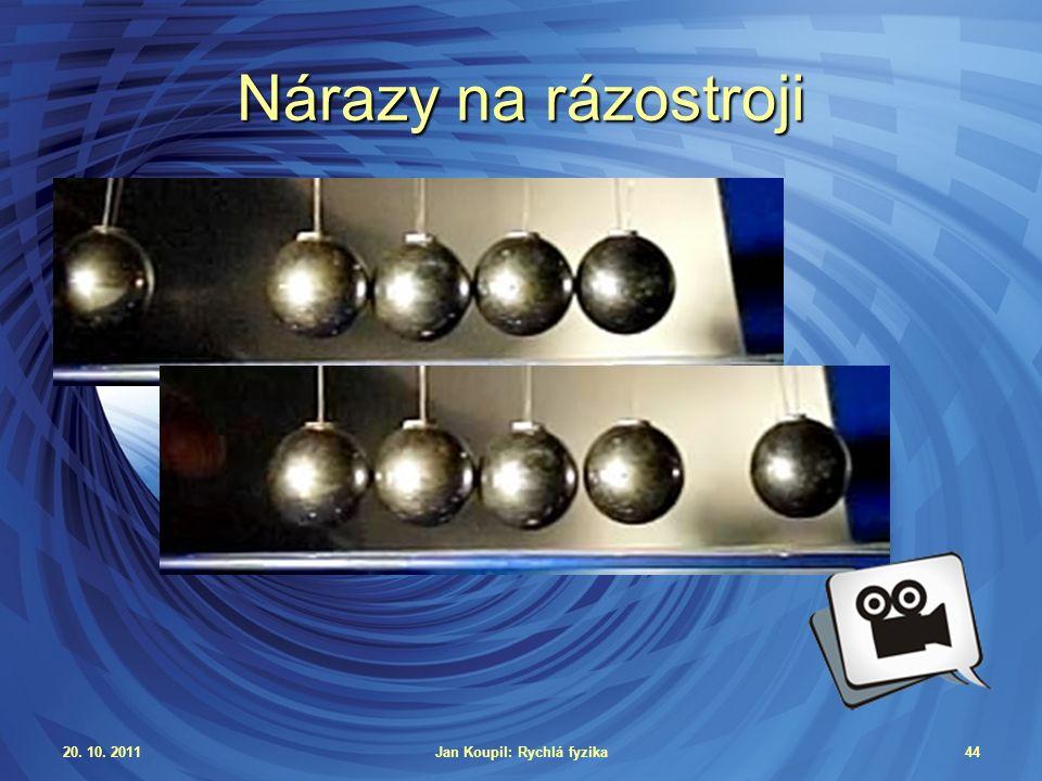 20. 10. 2011Jan Koupil: Rychlá fyzika44 Nárazy na rázostroji