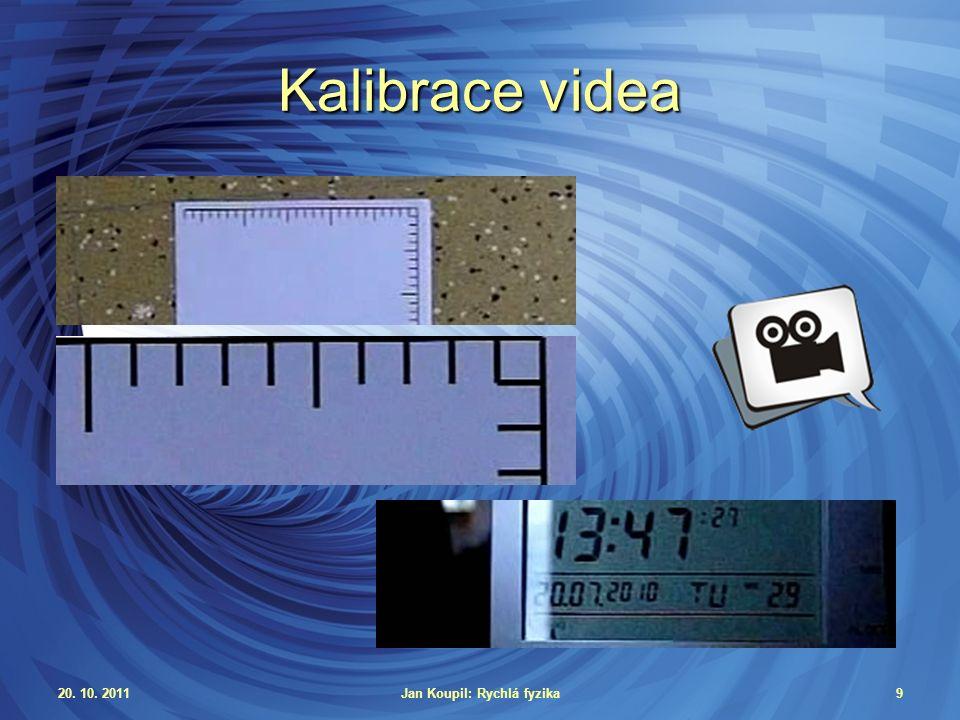 20.10. 2011Jan Koupil: Rychlá fyzika30 Volný pád Závislost polohy na čase g = 9,86 m/s 2 rel.