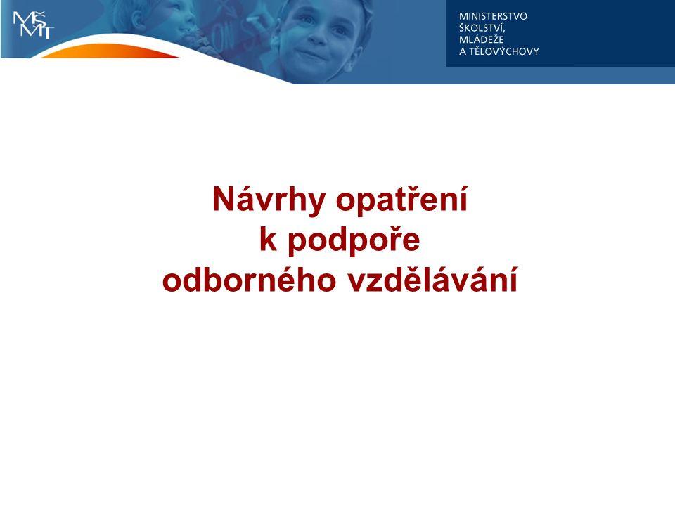 Návrhy opatření k podpoře odborného vzdělávání