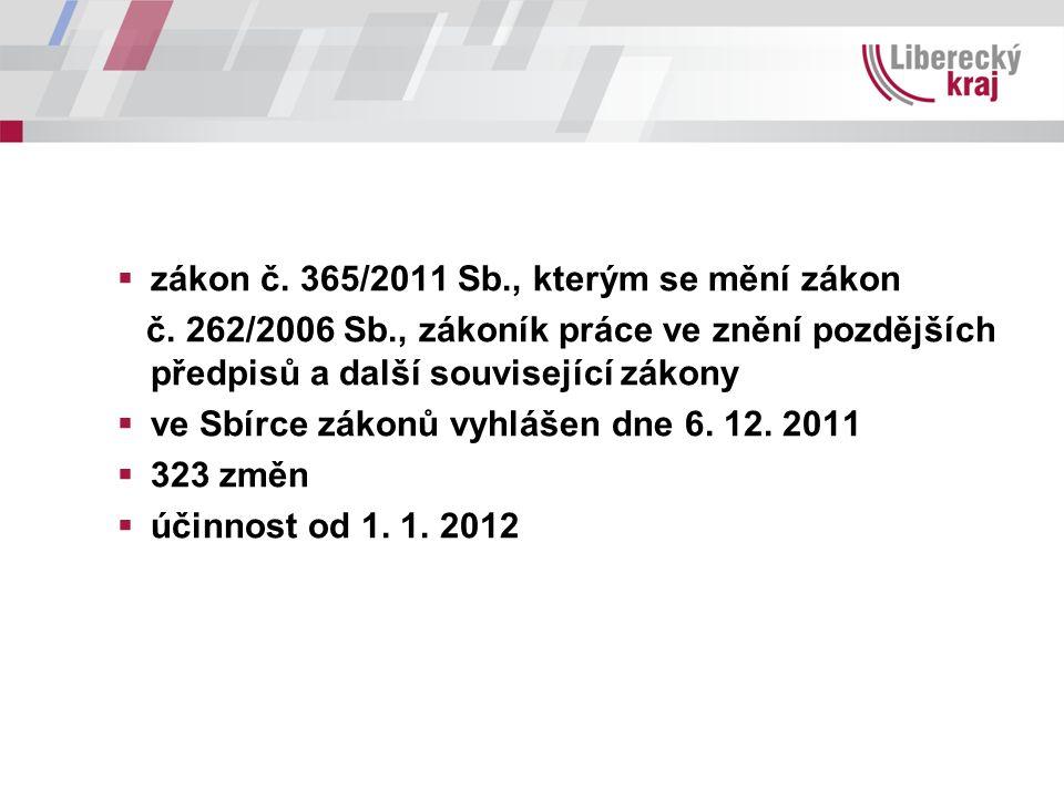  zákon č. 365/2011 Sb., kterým se mění zákon č.