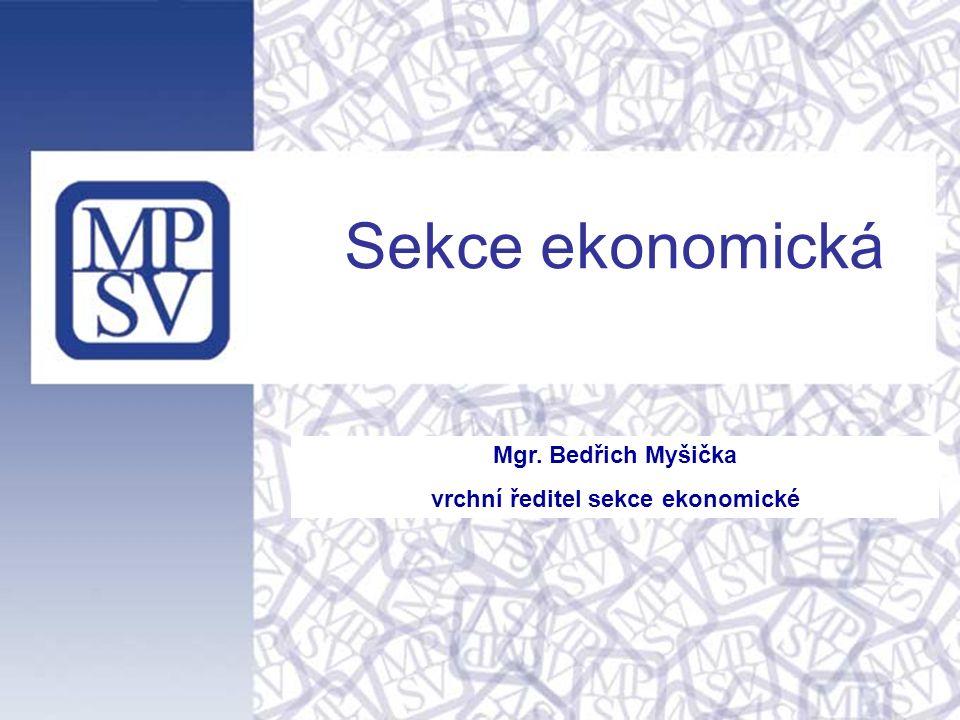 Mgr. Bedřich Myšička vrchní ředitel sekce ekonomické Sekce ekonomická