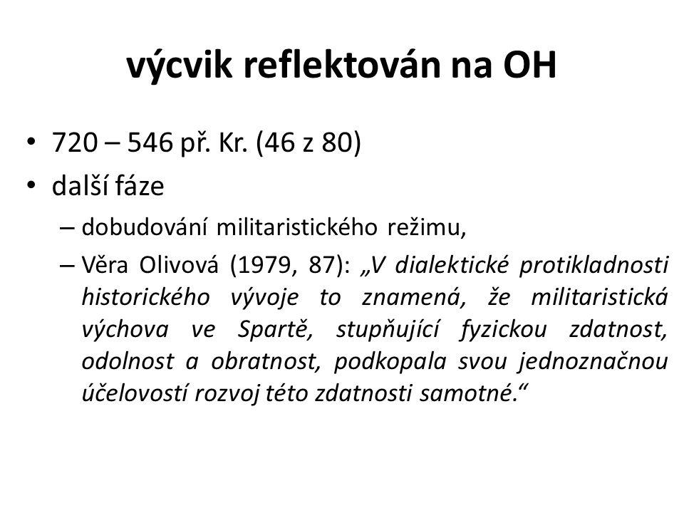 výcvik reflektován na OH 720 – 546 př. Kr.