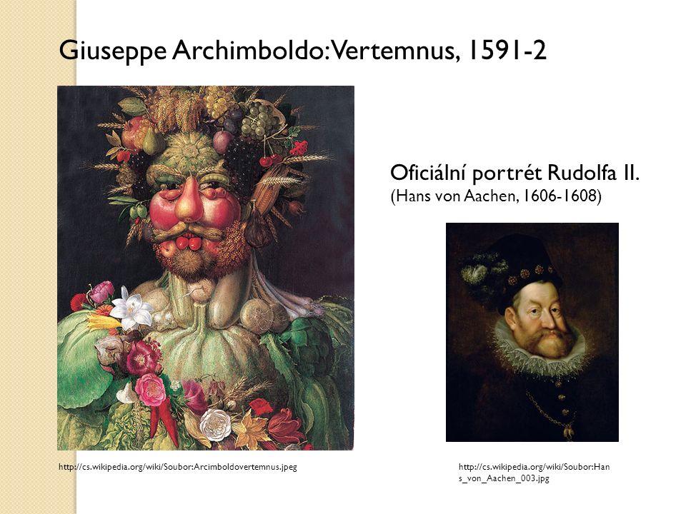Za finanční podporu se malíř císaři odvděčil ojedinělým portrétem, na němž panovníka zvěčnil jako antického boha Vertumna (bůh změny, ročních období, růstu rostlin, zahrad a ovocných rostlin)