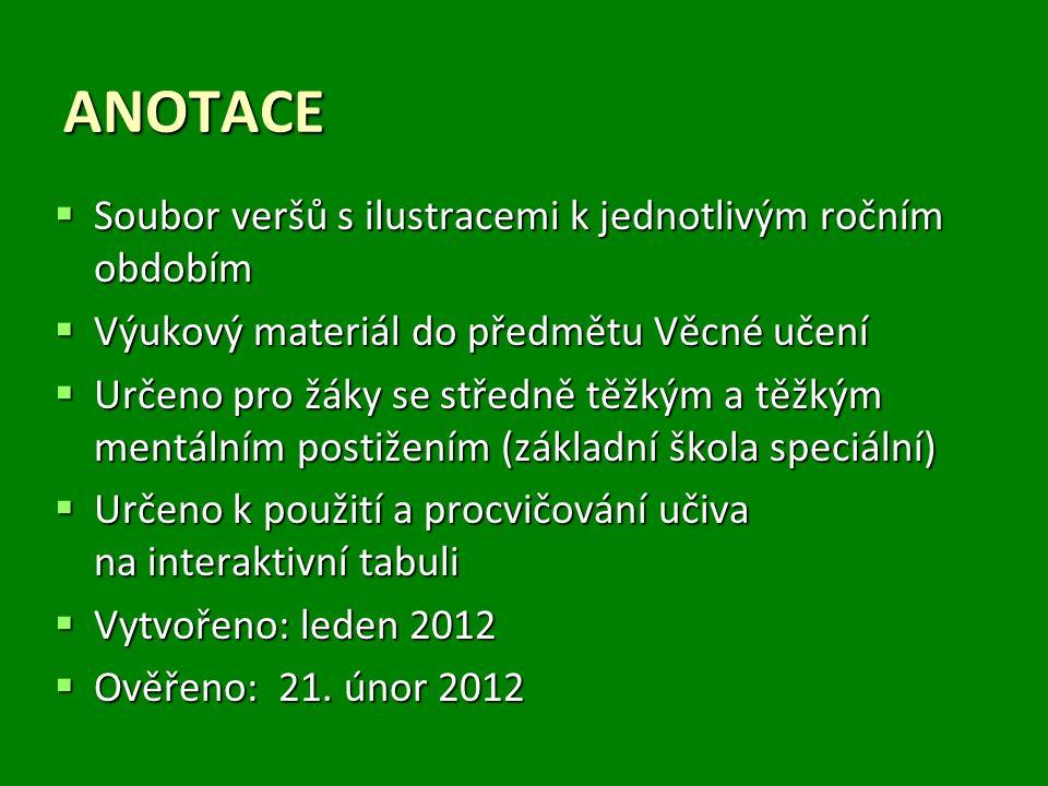 NÁZEV ŠKOLY: MŠ a ZŠ, Veselí nad Moravou, Kollárova1045 AUTOR: Mgr.