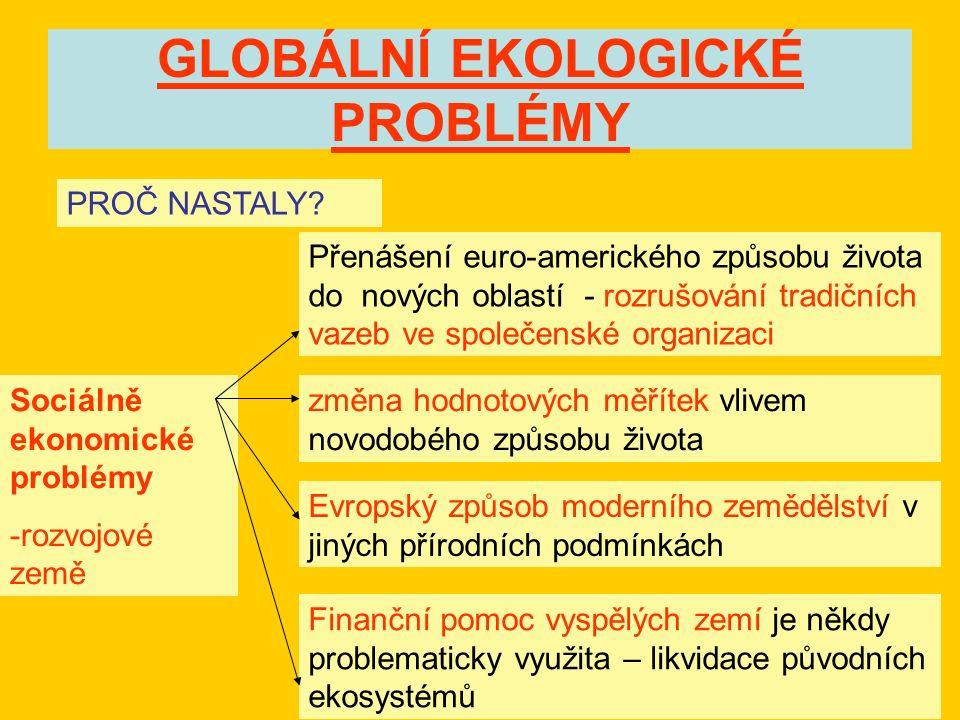 GLOBÁLNÍ EKOLOGICKÉ PROBLÉMY PROČ NASTALY.
