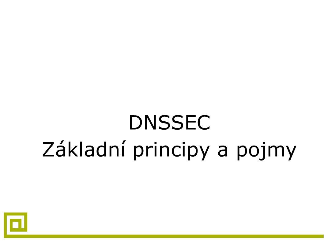 DNSSEC Základní principy a pojmy