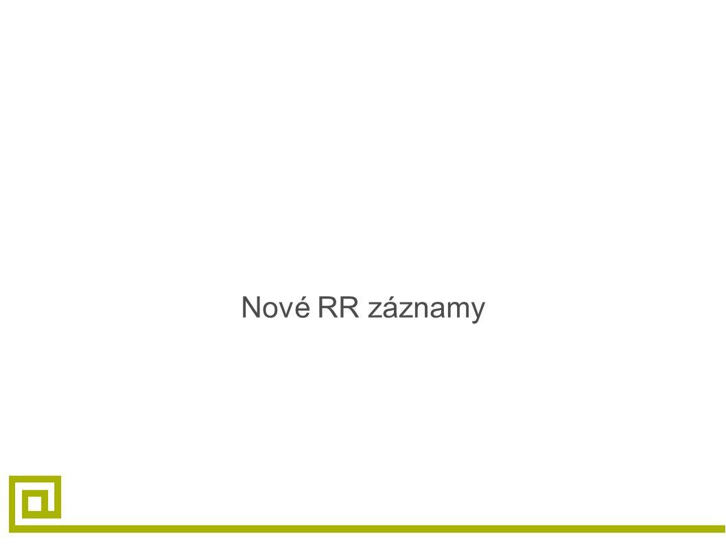 Nové RR záznamy