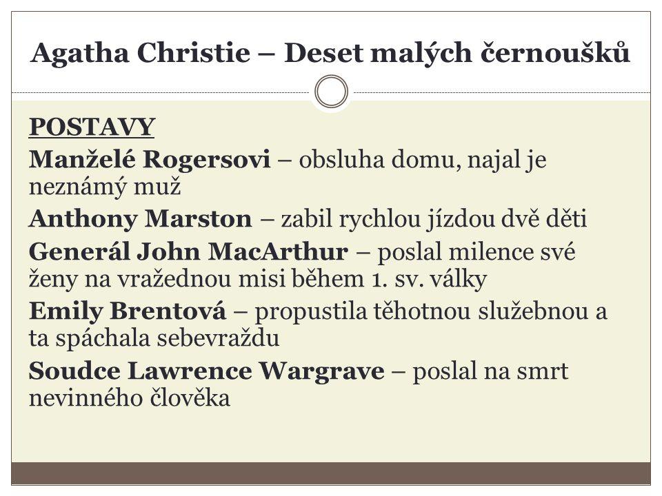 Agatha Christie – Deset malých černoušků POSTAVY Dr.