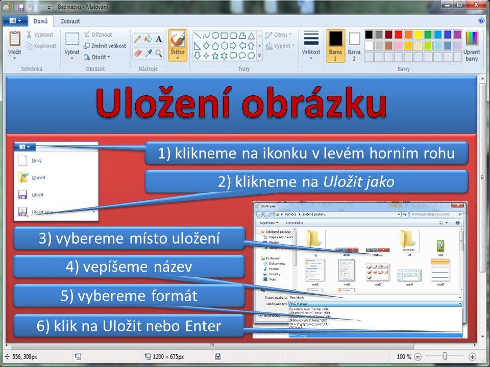 1) klikneme na ikonku v levém horním rohu 2) klikneme na Uložit jako 3) vybereme místo uložení 4) vepíšeme název 5) vybereme formát 6) klik na Uložit