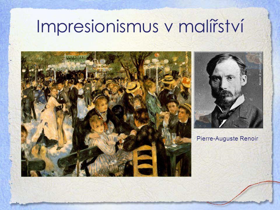 Impresionismus v malířství Pierre-Auguste Renoir