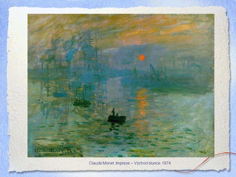 Claude Monet: Imprese – Východ slunce, 1874