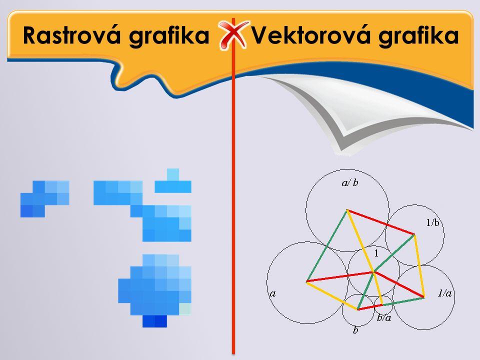 Rastrová grafika Vektorová grafika