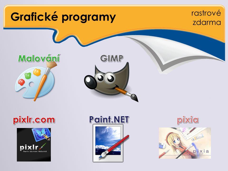 Grafické programy rastrové zdarma