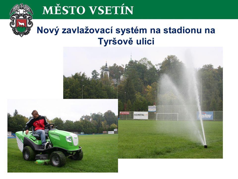 Nový zavlažovací systém na stadionu na Tyršově ulici