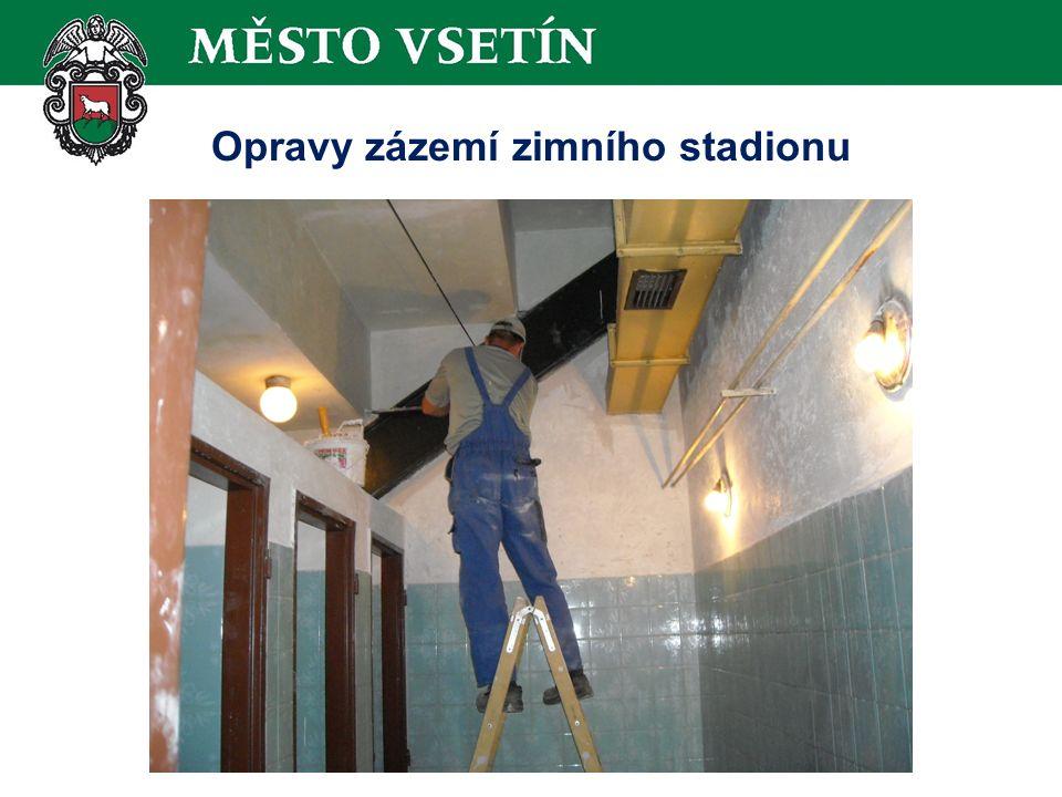 Opravy zázemí zimního stadionu