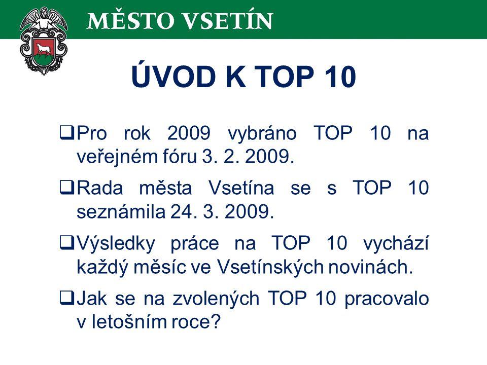 ÚVOD K TOP 10  Pro rok 2009 vybráno TOP 10 na veřejném fóru 3.