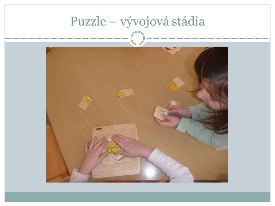 Puzzle – vývojová stádia