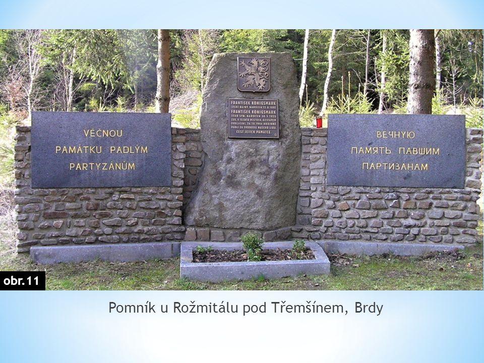 Pomník u Rožmitálu pod Třemšínem, Brdy obr.11