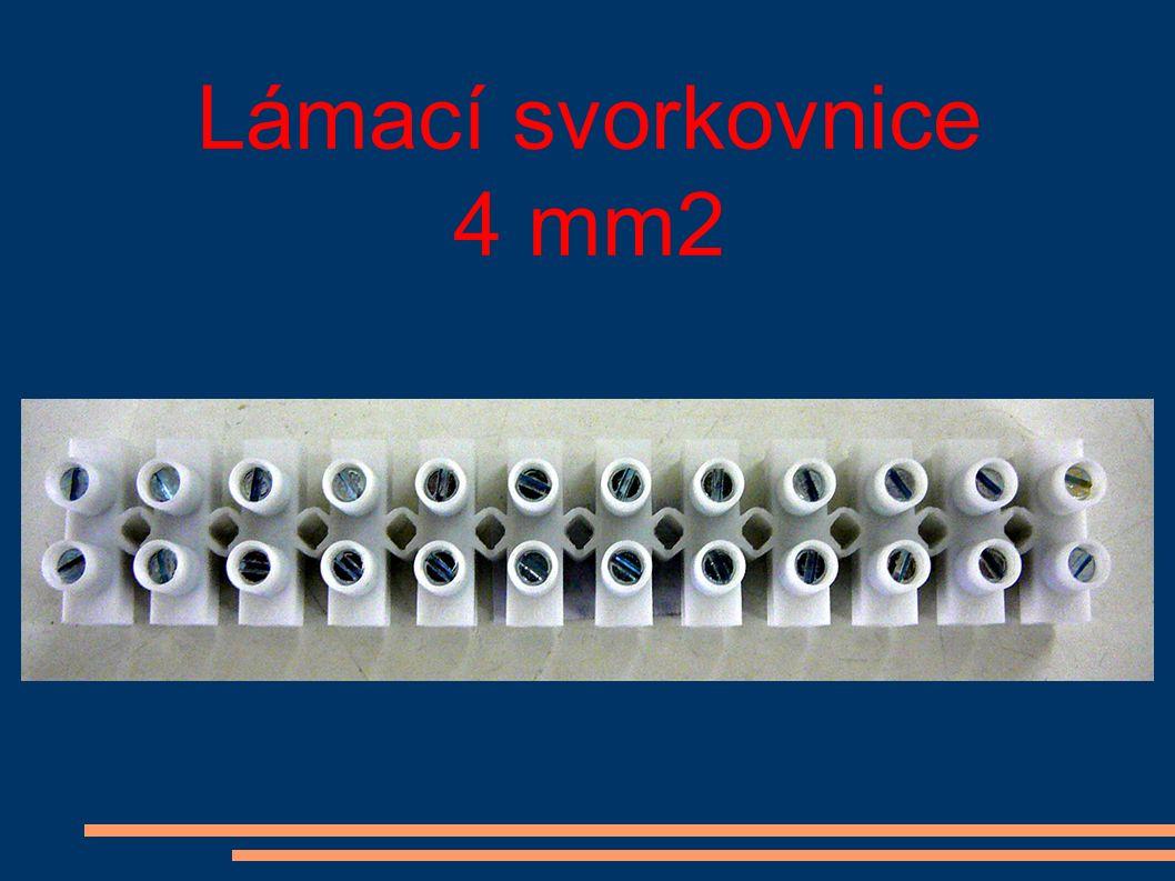 Lámací svorkovnice 4 mm2