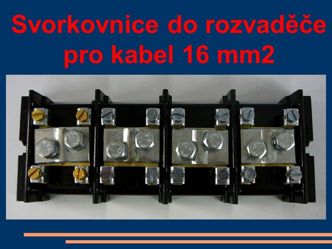 Svorkovnice do rozvaděče pro kabel 16 mm2