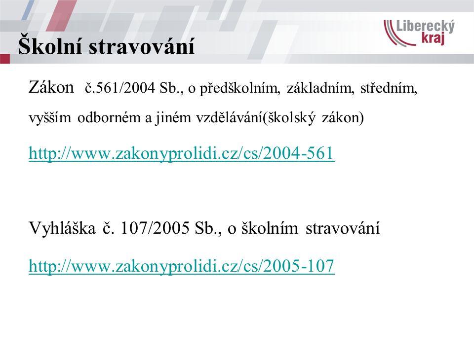 Zákon č.561/2004 Sb., o předškolním, základním, středním, vyšším odborném a jiném vzdělávání(školský zákon) http://www.zakonyprolidi.cz/cs/2004-561 Vyhláška č.