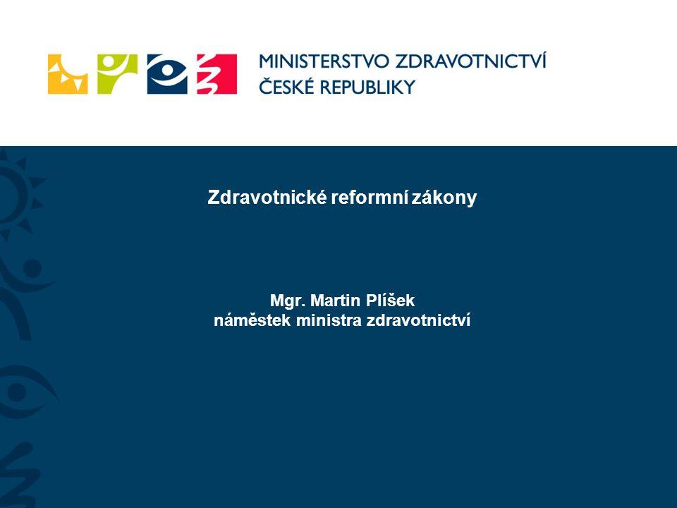 Zdravotnické reformní zákony Mgr. Martin Plíšek náměstek ministra zdravotnictví
