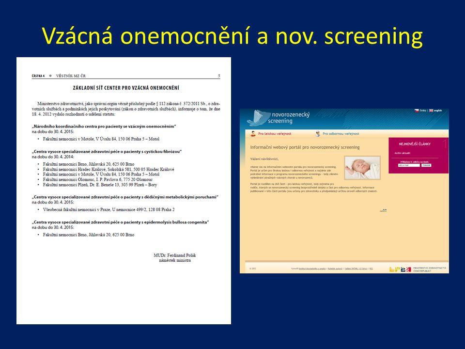 Vzácná onemocnění a nov. screening