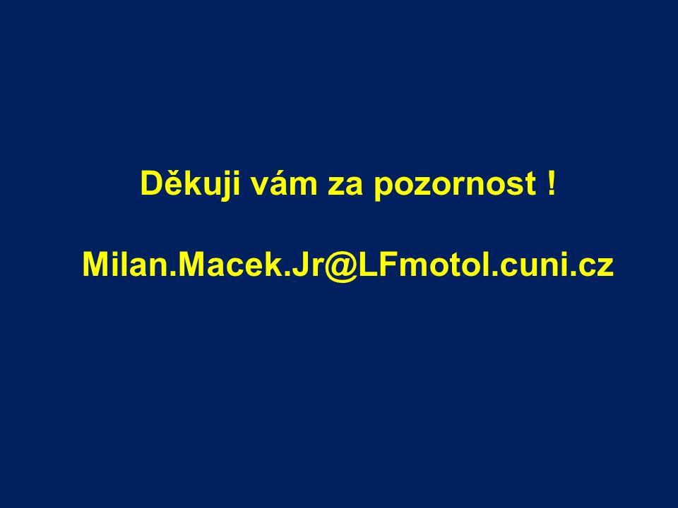 Děkuji vám za pozornost ! Milan.Macek.Jr@LFmotol.cuni.cz