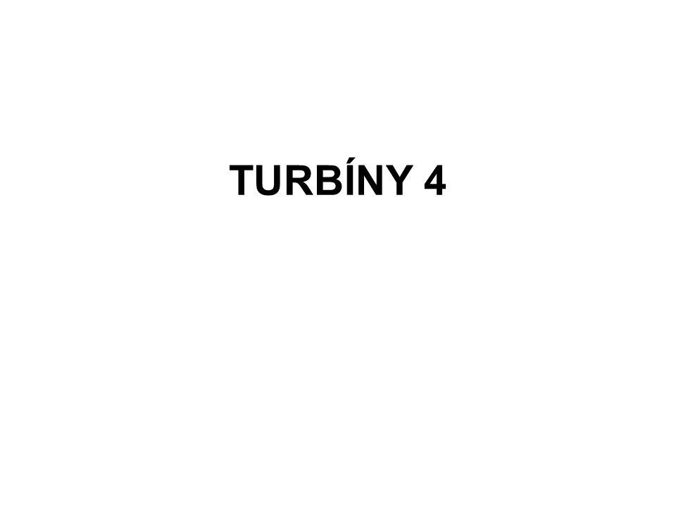 Turbíny Na rozdíl od vodního kola, kde voda působí jen na malou část jeho obvodu, působí voda v turbíně současně na všechny její lopatky
