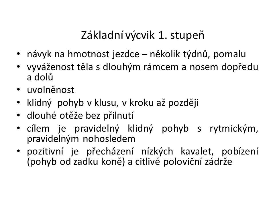 Srovnání délky a výšky klusových kroků 1.Piafa 2.