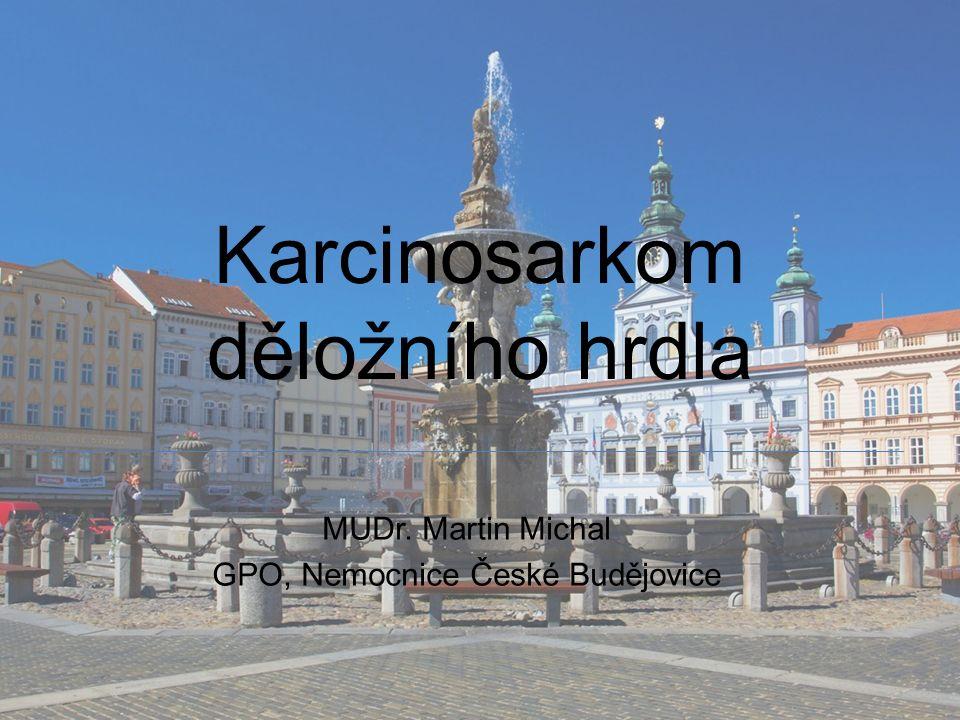 Karcinosarkom děložního hrdla MUDr. Martin Michal GPO, Nemocnice České Budějovice