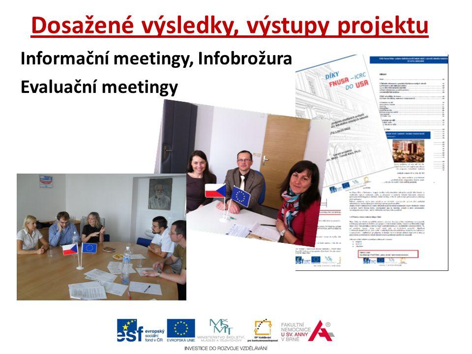 Dosažené výsledky, výstupy projektu Informační meetingy, Infobrožura Evaluační meetingy