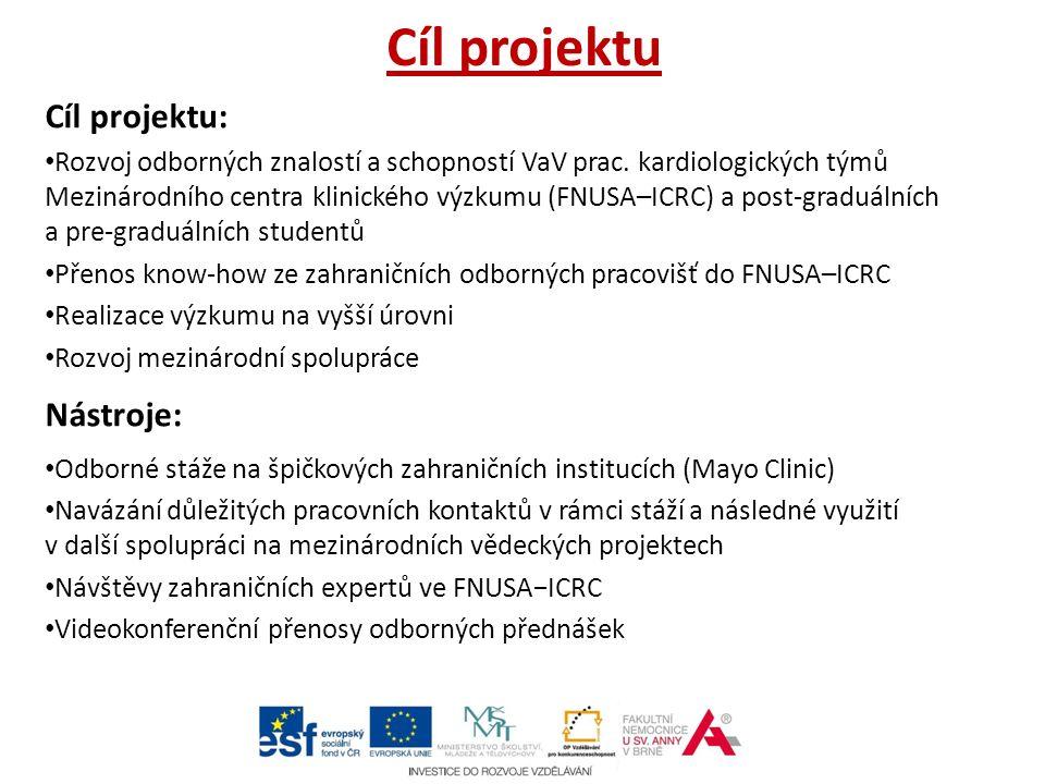 Cíl projektu Cíl projektu: Rozvoj odborných znalostí a schopností VaV prac.