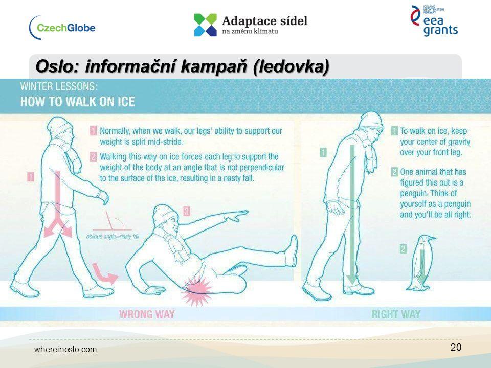 20 Oslo: informační kampaň (ledovka) whereinoslo.com