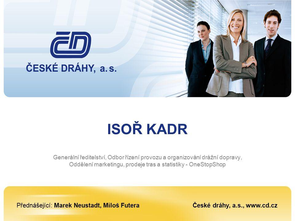 Praha, 2. setkáni s dopravci, 28, 30., 31. 1. 2008 12 Vývoj počtu požadavků zadaných do ISOŘ KADR