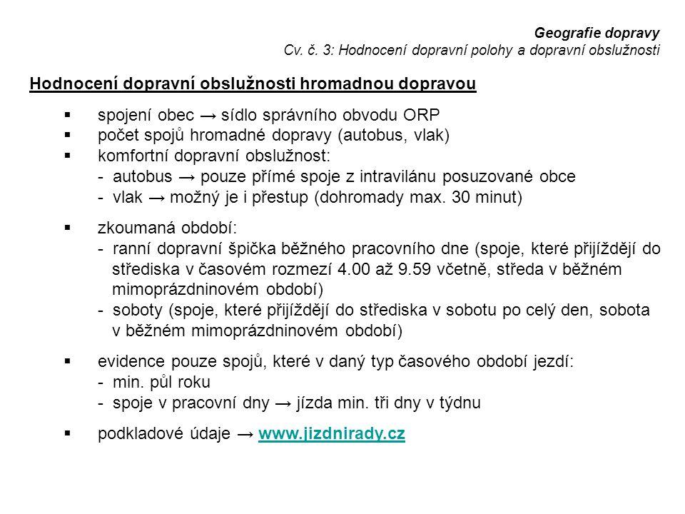 Geografie dopravy Cv. č.