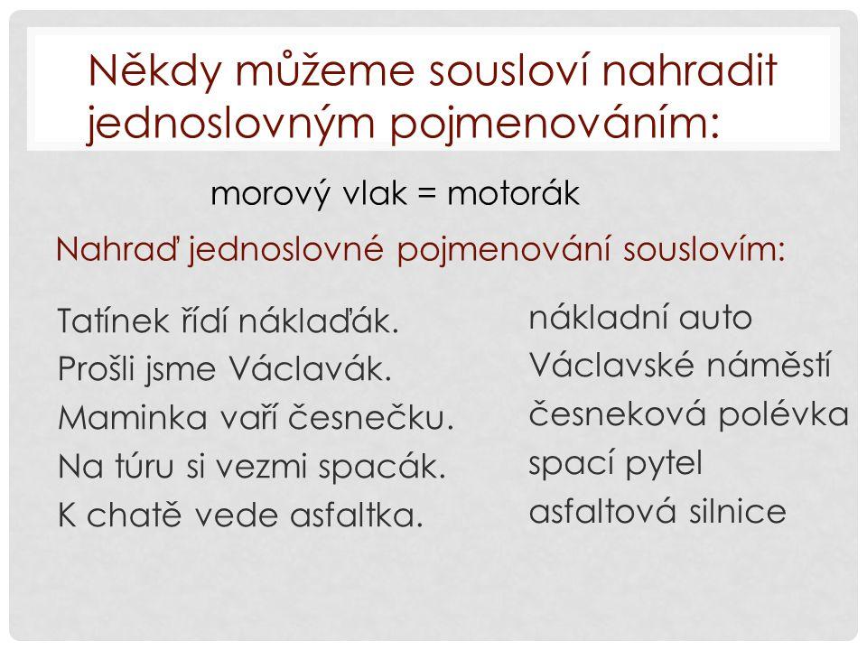Zdroj: KRAUSOVÁ, Zdeňka; TERŠOVÁ, Renata. Český jazyk 7. Plzeň: Fraus, 2004, ISBN 80-7238-320-5.