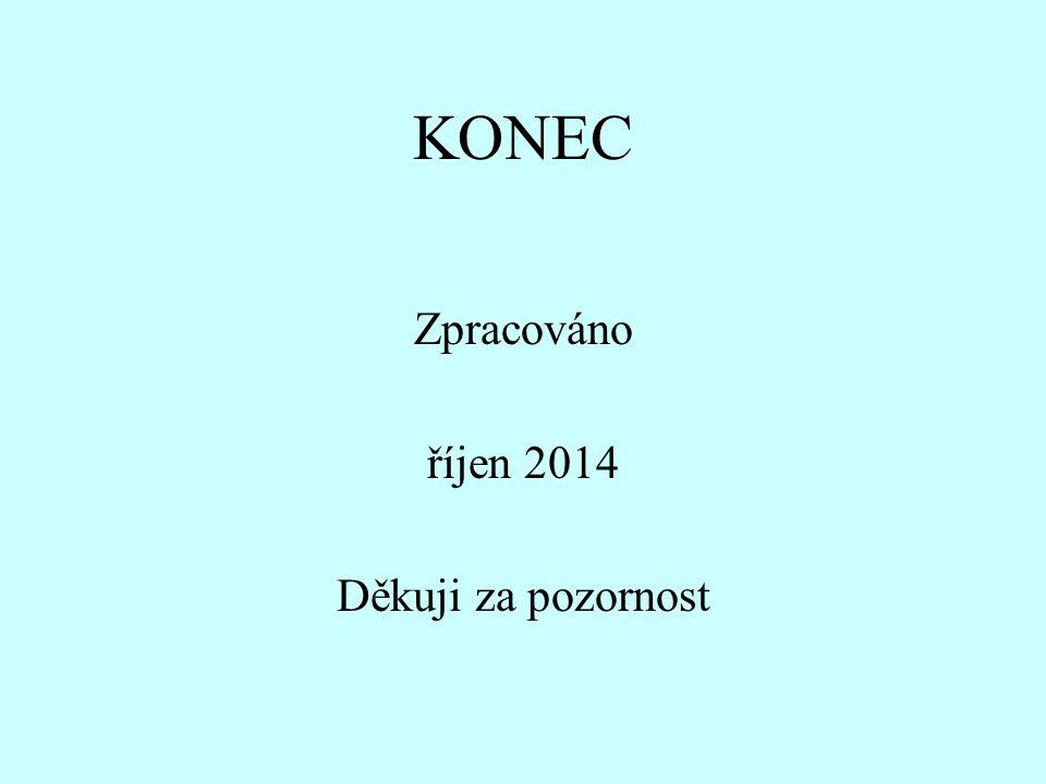 KONEC Zpracováno říjen 2014 Děkuji za pozornost