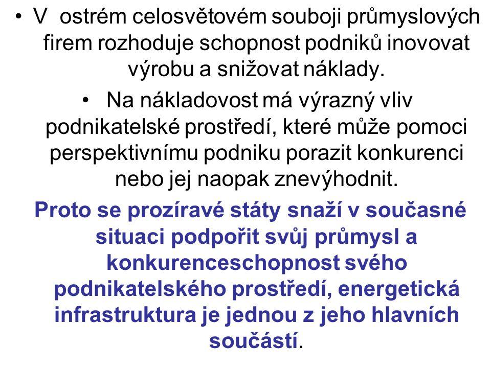 Závěr Český průmysl čelí více než kdykoliv předtím velmi tvrdé konkurenci.