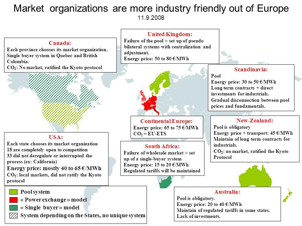 Schizofrenní a nepraktické chování EU Otevření trhu s energiemi - snaha o vytvoření konkurenčního prostředí mezi dodavateli energií ve prospěch odběratelů.
