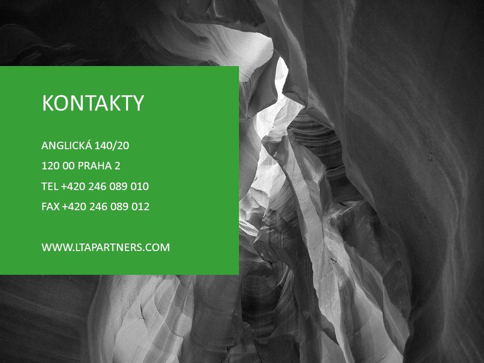 KONTAKTY ANGLICKÁ 140/20 120 00 PRAHA 2 TEL +420 246 089 010 FAX +420 246 089 012 WWW.LTAPARTNERS.COM